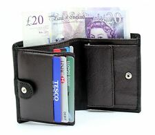 Mens High Quality Luxury Black Brown Real Leather Slim Wallet 8 Card Holder LG-7