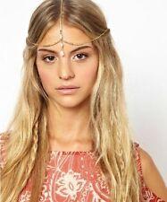 Boho Rhinestone Gold Headpiece Jewellery Head Chain Hairband Headdress
