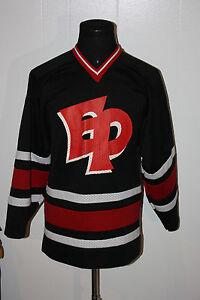 Minnesota Eden Prarie High School Eagles Black Red Mesh Hockey Jersey S