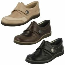 Velcro Leather Casual Flats for Women