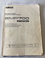 YAMAHA EMP700 Rack Multi Effect Processor Owner Operation User Manual
