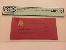 2015 House Select Committee on Benghazi Hillary Clinton Testimony Ticket PCGS