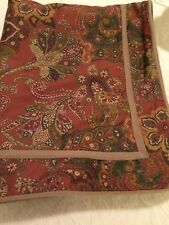 Ralph Lauren Chaps 1 Pillow Sham Chandler Pattern Floral Paisley Rust Tan Ribbon