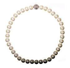 Swarovski Elements Crystal Louison Pearl Necklace Rhodium Ball Authentic 7289y