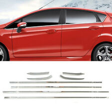 For Ford Fiesta 2011-On Hatch Chrome Door Window Frame Trim Molding Cover Lining