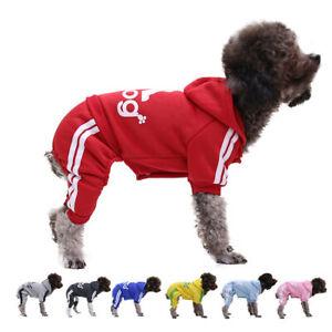 4 Leg Pet Dog Clothes Cat Puppy Coat Winter Hoodies Warm Sweater Jacket Clothing