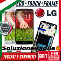 DISPLAY LCD+TOUCH SCREEN+FRAME TELAIO PER LG G2 OPTIMUS D802 VETRO_BRT 24H TOP!!