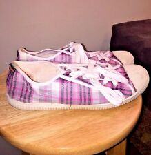 ROCKET DOG CONVERSE Canvas PINK PURPLE Plaid WOMEN ATHLETIC TENNIS SHOES Sz 8.5