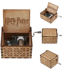 Harry Potter Music Hedwig's Theme  Box ngraved Wooden Hand Crank Movement