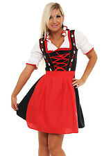4211 Dirndl 3 tlg.Trachtenkleid Kleid  Bluse Schürze Oktoberfest 4 Farben 4 Gr.