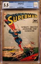 Superman #7 (CGC 5.5) 1940 WWII cover Key - 1st Appearance of Perry White