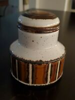 Vintage Midwinter Stonehenge Sugar Bowl with Lid EARTH England Brown Speckled