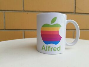Personalised Mug - Apple - Your name in the bottom, Any name, Calvin, Kevin....