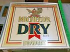 Vintage Michelob Dry Draught Beer Bar Mirror Sign 18x18 Anheuser Busch