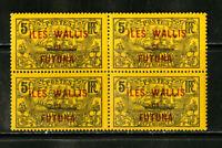 Wallis Stamps # 28 VF OG NH Block Of 4 Scott Value $140.00