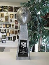 NEW THREE SIDED LARGE LOMBARDI REPLICA FANTASY FOOTBALL TROPHY 18 inches M-RF143