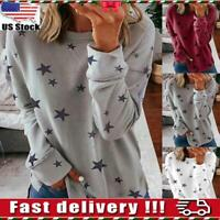 Women Casual Printed Sweatshirt Ladies Loose Pullover Jumper Tops Blouse Tee USA