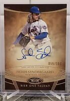 2019 Topps Tier One Talent Noah Syndergaard On-Card Autograph /100 NY METS AUTO