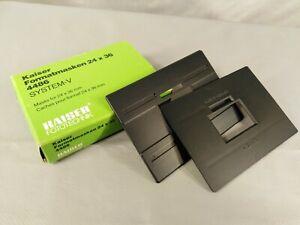 Kaiser system-V enlarger 35mm film negative carrier format masks pair 24 x36