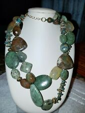"Stone 22"" Necklace Gemstone Coldwater Creek Double Strand"
