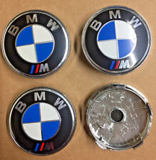 BMW M Sport Blue Alloy Wheel Centre Caps Set Of 4 Badges 60mm By 58mm Universal