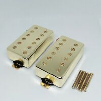 Gold Les Paul Electric Guitar Pickups Humbucker Set of 2 Magnet Ceramic Pickups