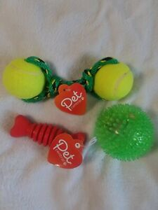 Chew Dog Toys/Musical Lightup Ball for Small Medium Large Dog. 3 toys