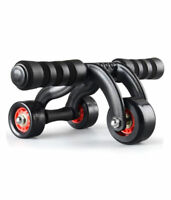 3 Wheel Abdominal Exercise Workout Ab Roller Fitness Muscle Gym Training System