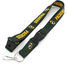 Green Bay Packers Football NFL Retro Lanyard Key Ring Keychain w/ Safety Clip