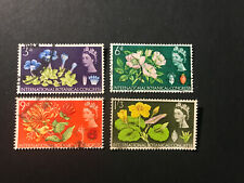 STAMPS - GB BOTANICAL (4) USED PHOSPJOR AS SHOW