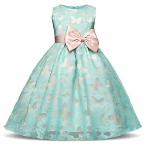 Fancy Butterfly Kids Girl Wedding Flower Girls Dress Princess Party Pageant 2020