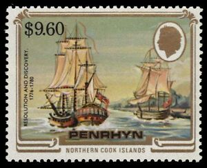 """PENRHYN ISLAND 286 (SG355) - """"Resolution"""" and """"Discovery""""  (pa43237)"""