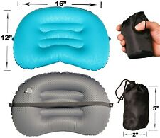 Lightweight Inflatable Air Pillow, Travel, Camping, Hiking, Backpacking, Office