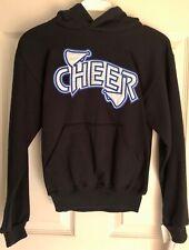 Gk Glitzy Cheer Pullover Sweatshirt Size Child Medium Navy Cotton Cm Nwt!