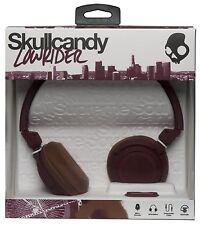 Skullcandy Lowrider Auriculares Sobre las Orejas Estilo Dj + Micrófono + Control De Volumen-Granate