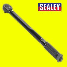 "SEALEY AK623B Micrometer Torque Wrench 3/8""Sq Drive Calibrated Black Series"
