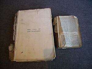 Antique 19th Century Church Services and The Call of the Homeland Books - Verse