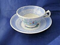 ANTIQUE TEA CUP AND SAUCER BY W S & CO. INFANT SPORTS - VERY UNUSUAL