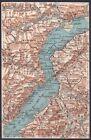 LAGO MAGGIORE CUNARDO PERRERA LOCARNO FALMENTA INTRA CARTINA topografica ca 1920