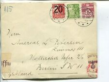 Denmark censor cover to Berlin, Aabenraa 6.10.1940