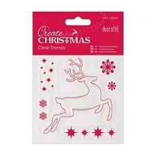Conjunto de sello de Reno claro-crear Navidad Colección-DOCRAFTS