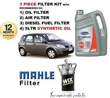 FOR RENAULT MEGANE SCENIC 1.9 DCi 2003-2009 SERVICE OIL AIR FUEL FILTER & OIL