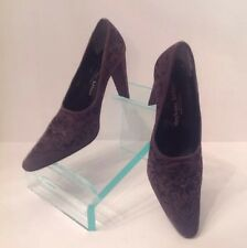 Stephane Kelian Embroidered Gray Suede Pumps Made In Paris France US Sz 9