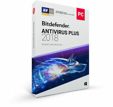 Bitdefender ANTIVIRUS PLUS 2018, 3 PCs 1 Year LATEST RETAIL DVD CASE