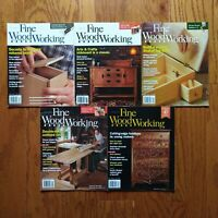 Fine Woodworking Magazine Lot 2015 (5) Issue Boxes Sideboard Shaker Desk Table