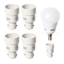 4x IKEA KOPPLA E14 (SES) to Small Bayonet (B15) Light-Fitting Convertors