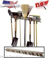 Tool Hanger Storage Organizer Wall Mounted Garage Garden Shed Rack Shovels Broom