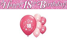 18th BIRTHDAY PARTY PACK DECORATIONS BANNER BALLOONS (AP.P.1)