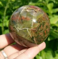 56mm UNAKITE Sphere Crystal Stone Balance & Release Reiki Charged 9.4oz!