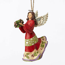 Jim Shore Holly Angel w/Holly & Pine Cones Christmas Ornament ~ 4053843